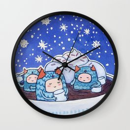 Mallow Monsters Wall Clock