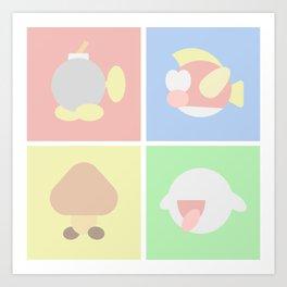 Super Mario Enemies Art Print