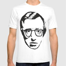 Woody Allen MEDIUM White Mens Fitted Tee