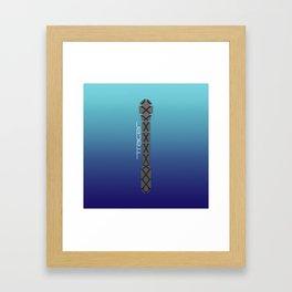 Tracer Royal Blue Cosplay Leggings Framed Art Print