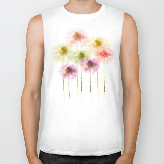 flowers Biker Tank