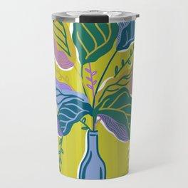 Wine Bottle Flower Vase   Green Travel Mug