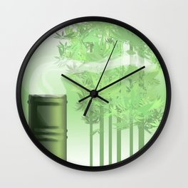 Green Tea Wall Clock