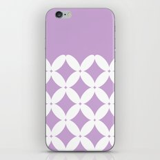 Abstract pattern - purple and white. iPhone Skin