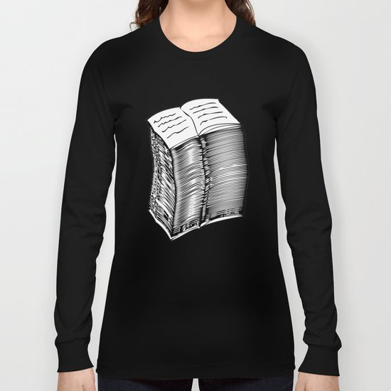 A-Z / Black on White Long Sleeve T-shirt