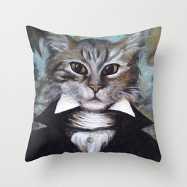 Dapper Cat V.2 Throw Pillow