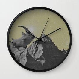 Rhino Mountain Wall Clock