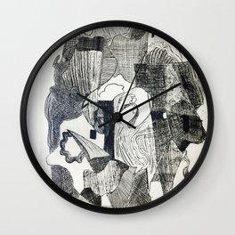 Etching #2 Wall Clock