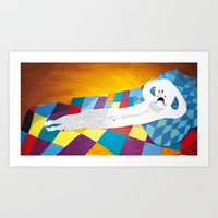 naked Art Prints featuring naked by IBANEZ