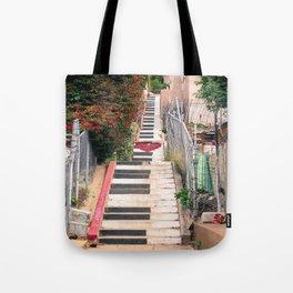 Piano <3 Staircase Tote Bag