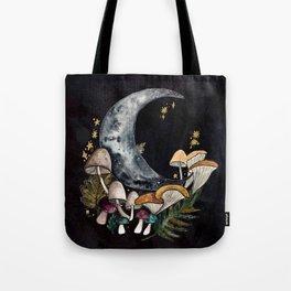 Mushroom Moon Tote Bag