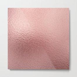 Pure Rose Gold Metal Pink Metal Print