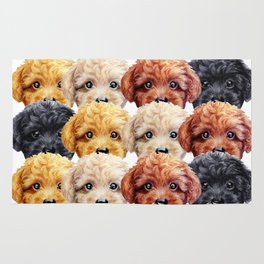 Toy poodle everywhere with friends Rug