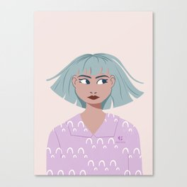 Side eyed girl Canvas Print