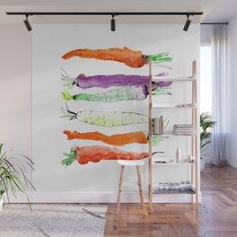 Rainbow Gardens: Carrots Wall Mural