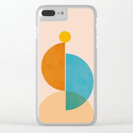 Abstraction_SUN_Rising_Minimalism_001 Clear iPhone Case