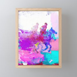 poloplayer abstract redblue Framed Mini Art Print