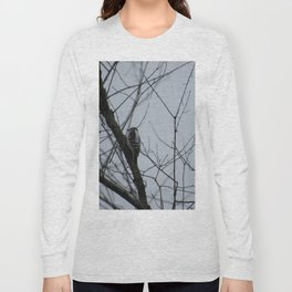 This beautiful little Downy Woodpecker Long Sleeve T-shirt
