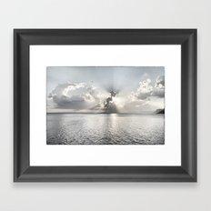 When the sun sets... Framed Art Print