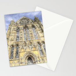 York Minster Cathedral Snow Art Stationery Cards