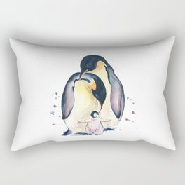 Penguins Family Rectangular Pillow