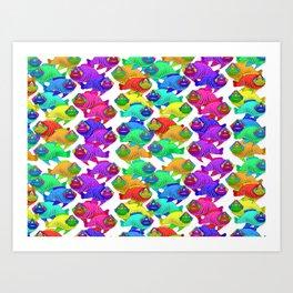 Three eyed fish Art Print