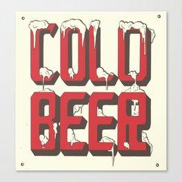 Cold Beer Vintage  Canvas Print