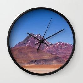 Atacama Volcano Wall Clock