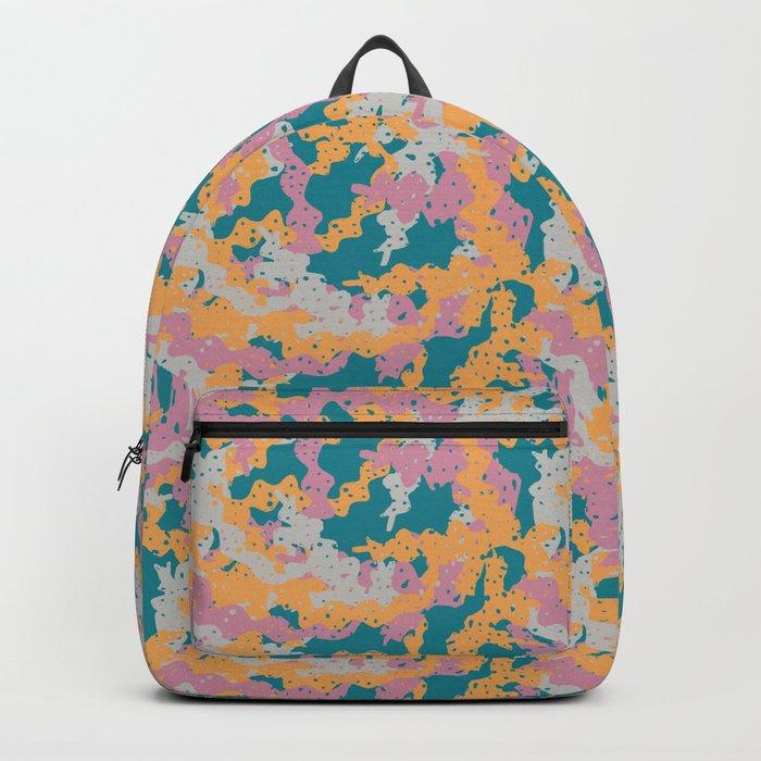 All Over Seaweed Print Backpack