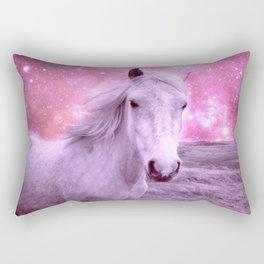 Pink Horse Celestial Dreams Rectangular Pillow