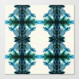 teal fern pattern Canvas Print