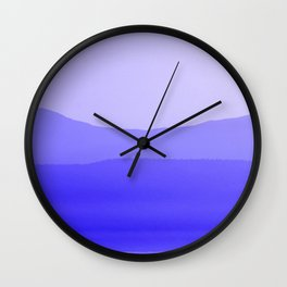 Shape Of The Horizon Wall Clock