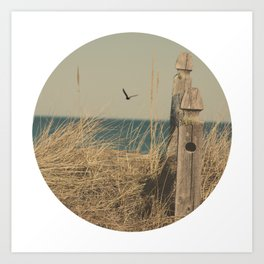 Paradise New England Beach Ocean Seaside Neutral Photography Fine Art Prints New  Art Print