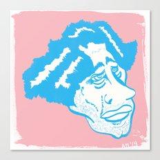 Scruff in Blue Canvas Print