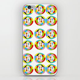 Multicolor circles II-abstraction,abstract,geometric,geometrical,pattern,circle,sphere iPhone Skin