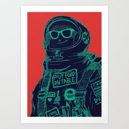 Ratter live outer space Art Print
