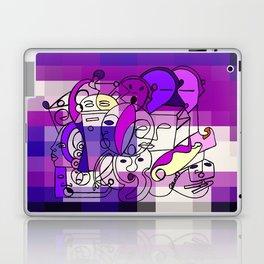 Purple White Commotion Laptop & iPad Skin