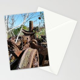 Rusty Train Wreck Stationery Cards
