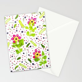 Fruits and vegetables pattern (15) Stationery Cards
