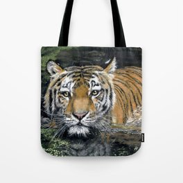 Swimming Tiger Tote Bag