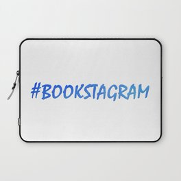 #BOOKSTAGRAM in blue Laptop Sleeve