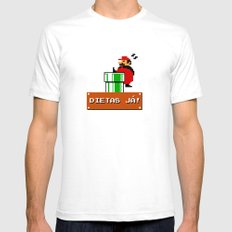 Dietas Já! Mens Fitted Tee White SMALL