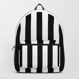 Abstract Black and White Vertical Stripe Lines 12 Backpack