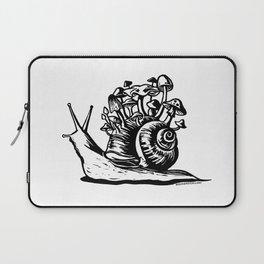 Mushroom Snail Linocut Laptop Sleeve