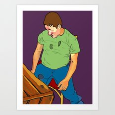 Drunken Boy Art Print