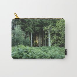 Sunrise through the spruce wood Carry-All Pouch