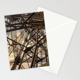 France Photography - Inside Of The Eiffel Tower Stationery Cards