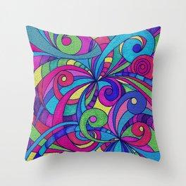 Drawing Floral Doodle G1 Throw Pillow