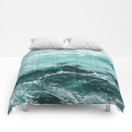 Water Photography | Sea | Ocean | Pattern | Abstract | Digital | Turquoise Comforters