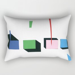 Squares in line Rectangular Pillow